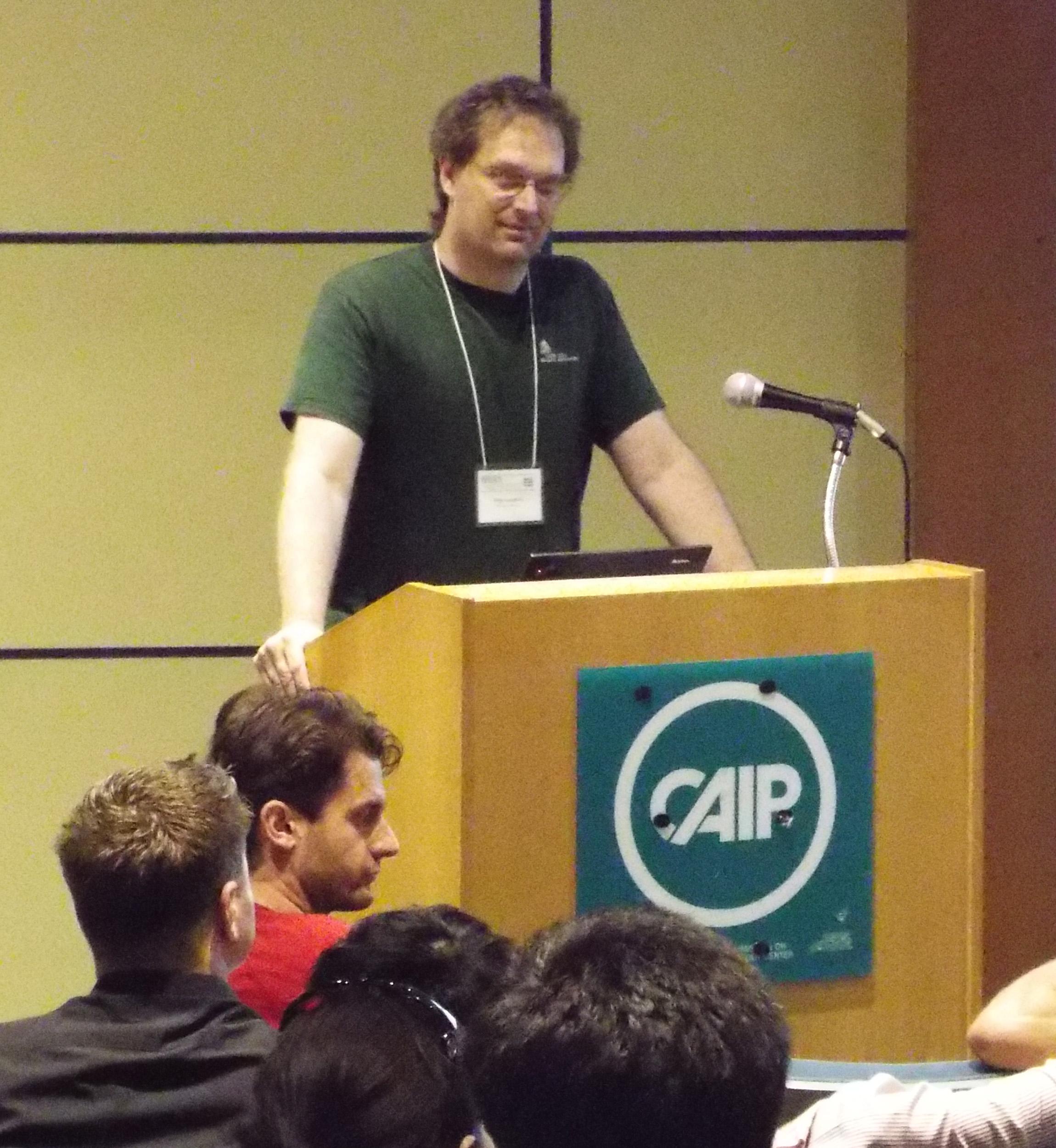 John Langford speaks at the Sublinear Algorithms workshop