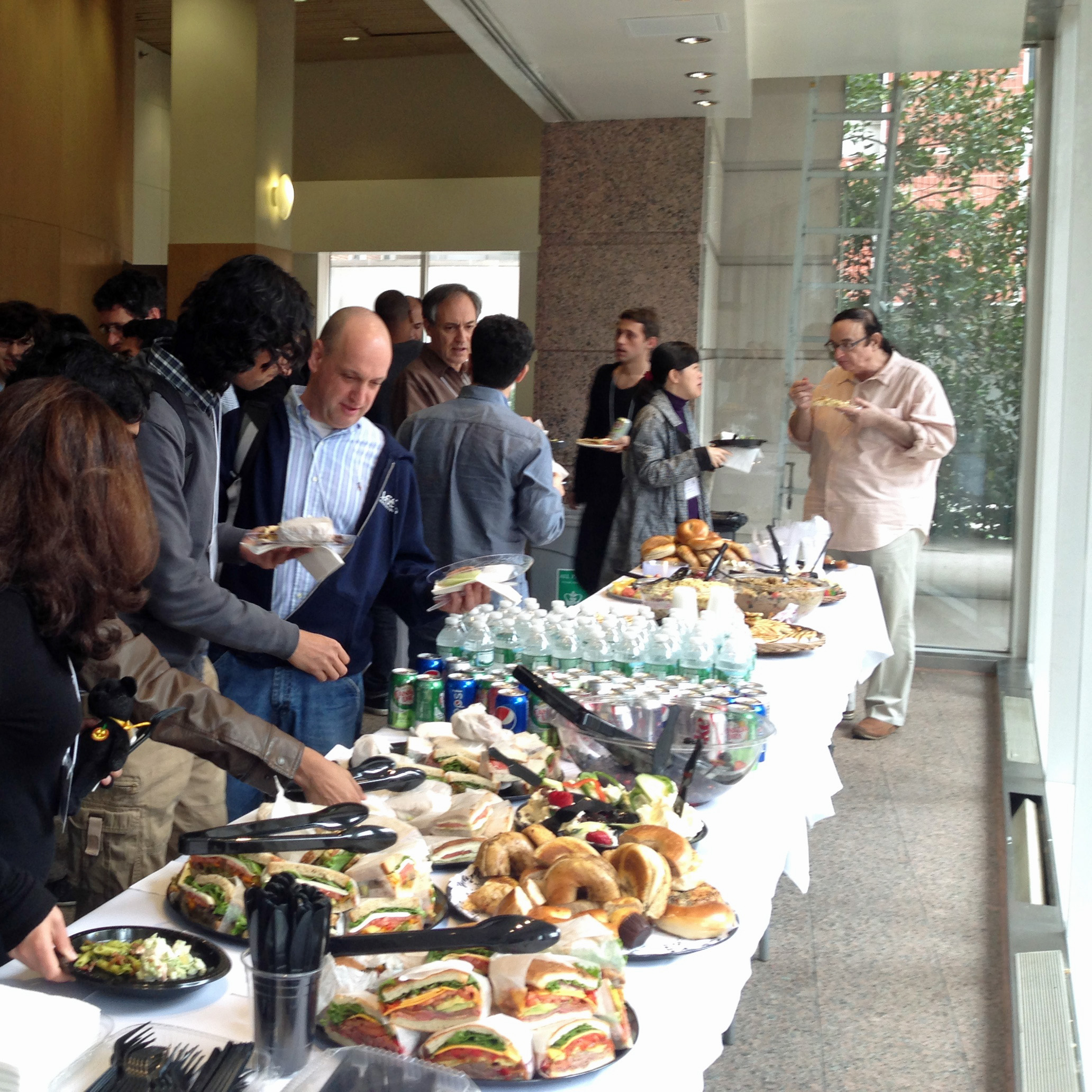 Networking over lunch at the       Cryptography for Big Data workshop