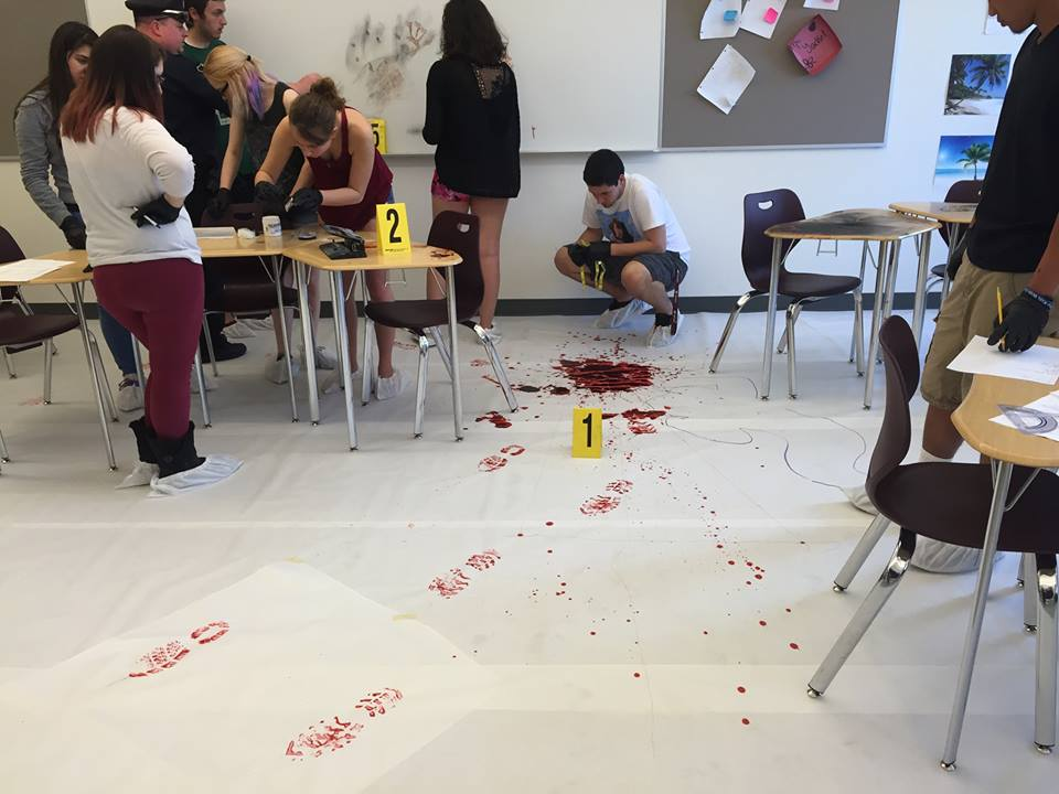 Crime scene       at Ayer-Shirley High School