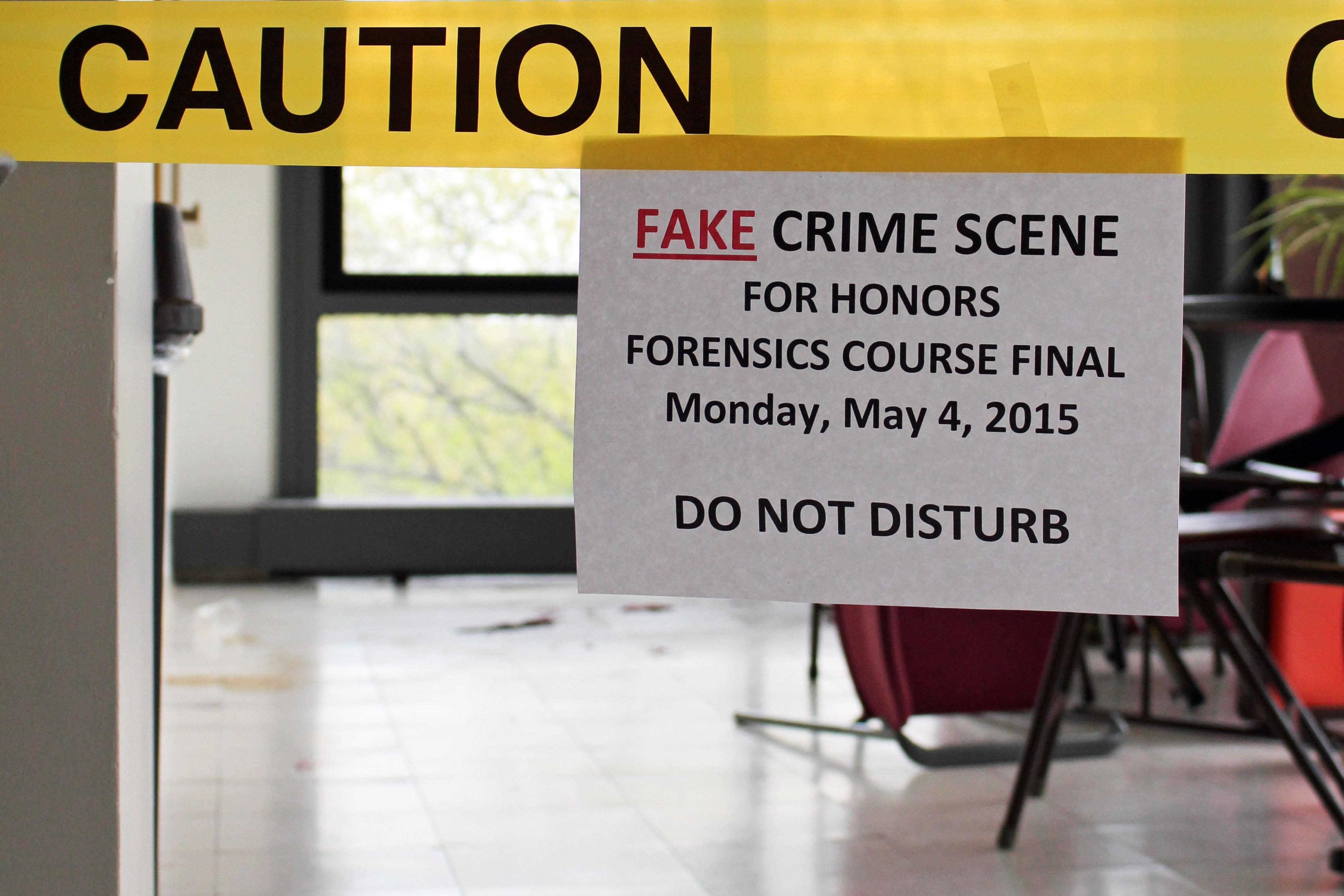 Crime scene staged at       DIMACS